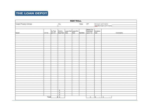 Rent Collection Spreadsheet Template With Regard To 47 Rent Roll Templates  Forms  Template Archive
