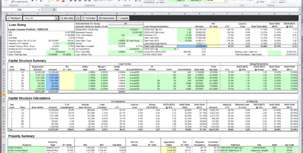 Rent Roll Excel Spreadsheet Within Excel Underwriting  Rockport Cre Lending System