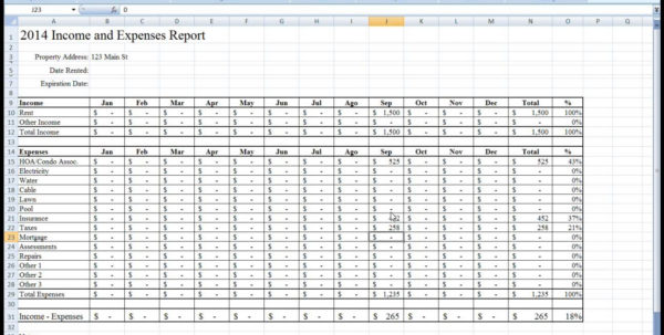 Rent Tracking Spreadsheet Regarding Rental Property Expense Tracking Spreadsheet  Homebiz4U2Profit