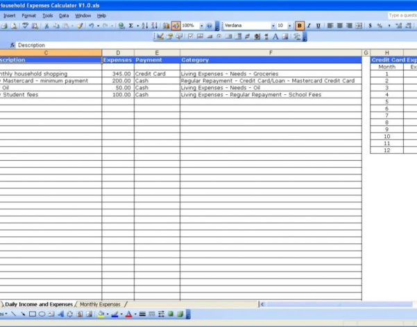 Rental House Expenses Spreadsheet Regarding Landlord Expenses Spreadsheet Document Template Excel And Accounting