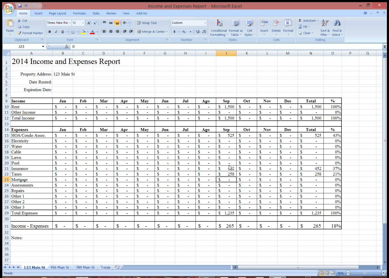 Rental Income Tracking Spreadsheet Within Rental Property Expense Tracking Spreadsheet  Homebiz4U2Profit