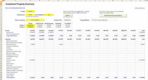 Rental Investment Spreadsheet Inside Rental Property Accounting Spreadsheet Or Rental Investment Property