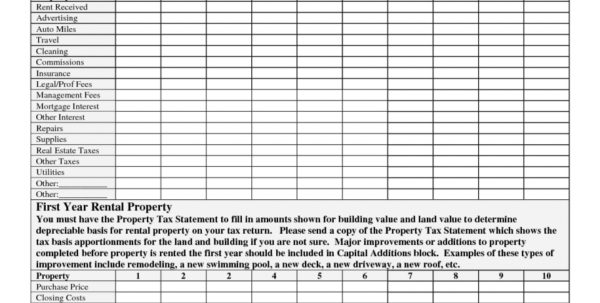 Rental Property Spreadsheet Canada For Rental Property Roi Spreadsheet Calculator Canada Australia