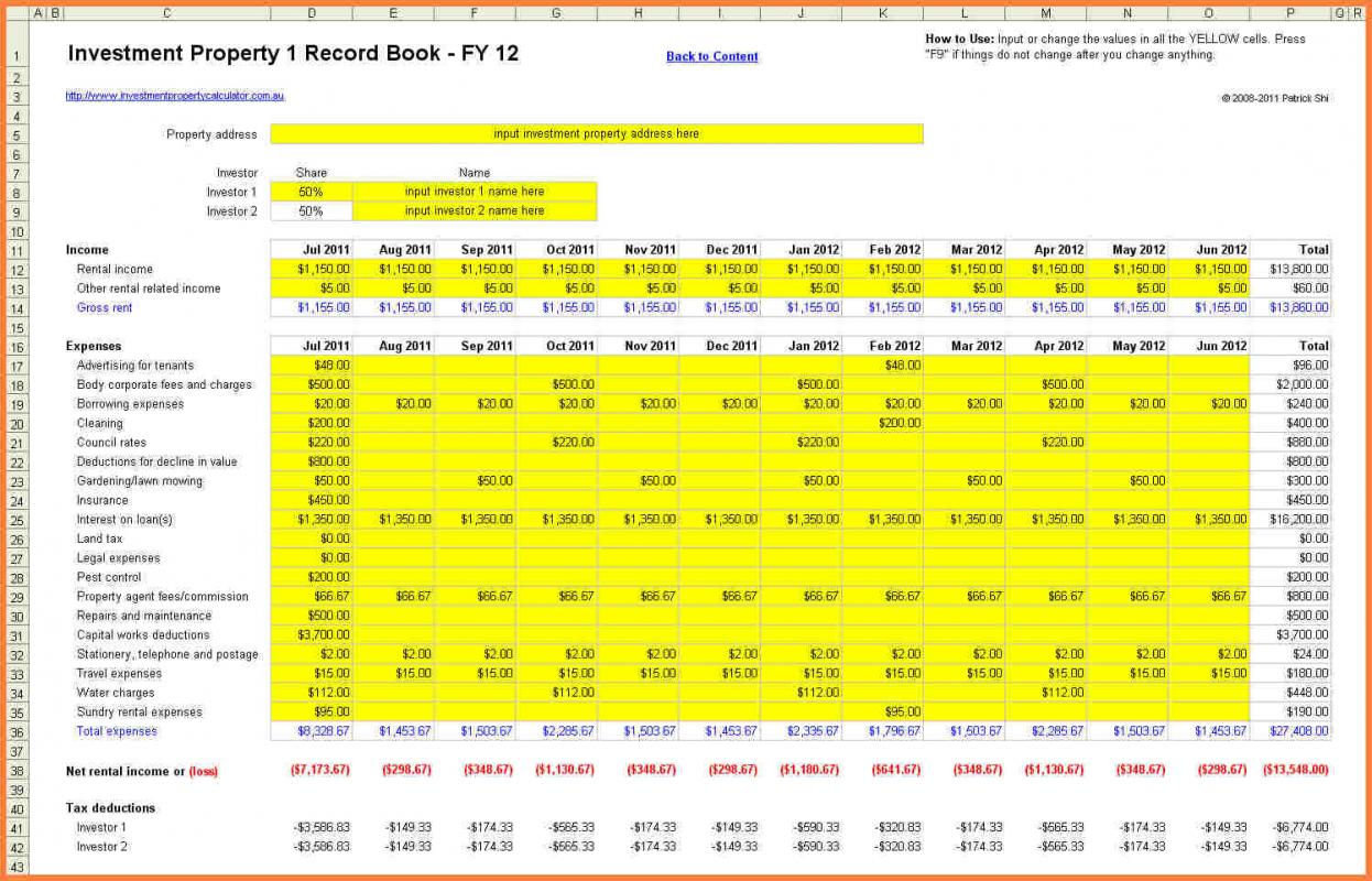 Rental Property Spreadsheet Excel Uk Within Free Rental Property Management Excelpreadsheet Individual Income