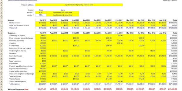 Rental Property Tracker Spreadsheet For Rental Property Tracker Spreadsheet Rent Review Of Investment Guve
