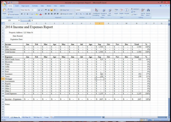 Rental Property Tracker Spreadsheet With Regard To Rental Property Expense Tracking Spreadsheet  Homebiz4U2Profit