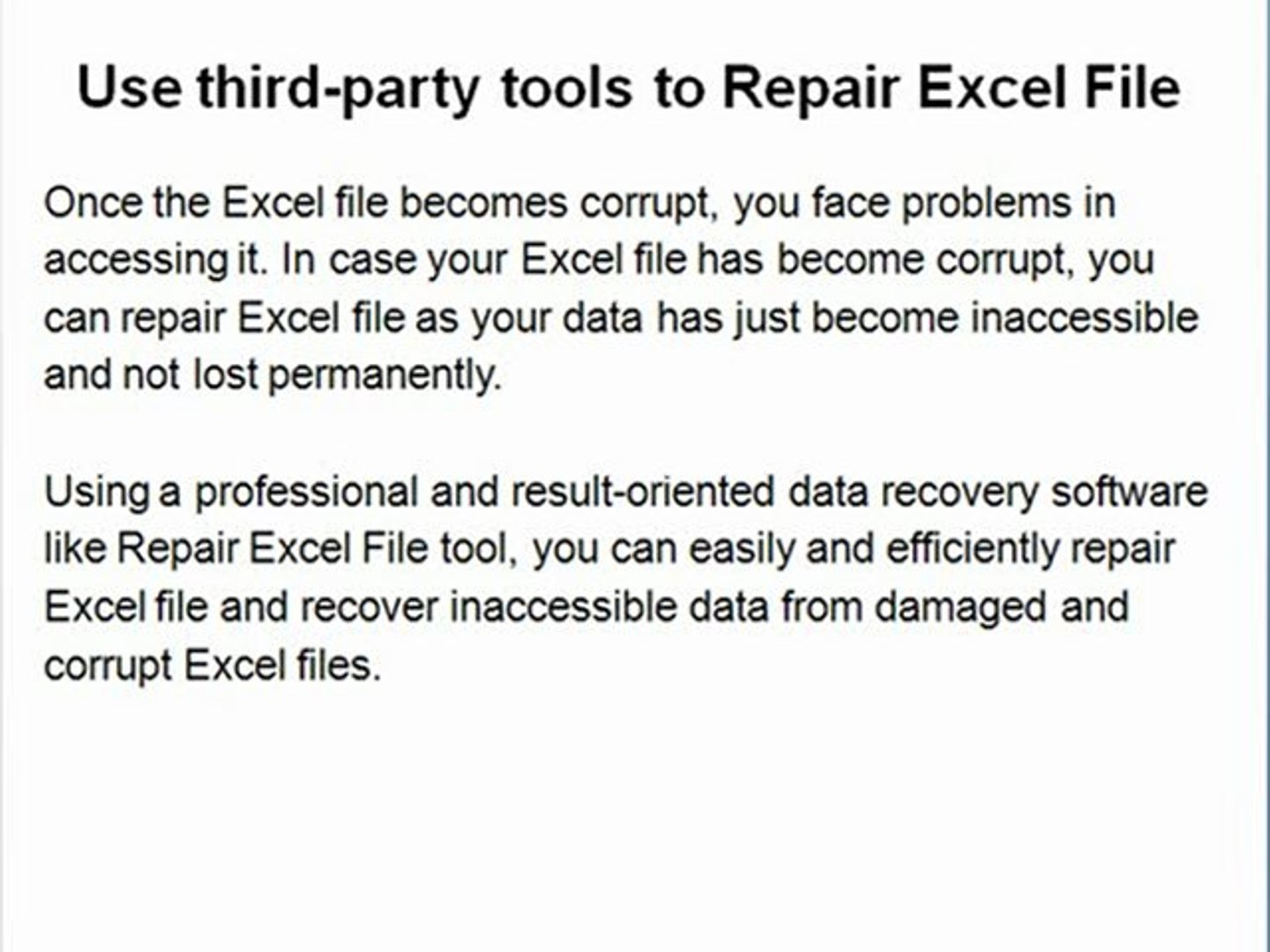 Repair Excel Spreadsheet Pertaining To Excel Recovery  Excel File Repair Tool Xls Recovery  Video
