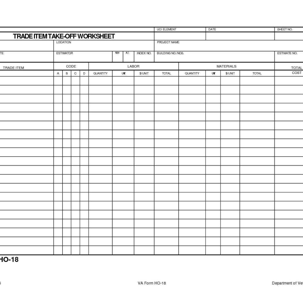 Residential Electrical Estimating Spreadsheet For Residential Electrical Estimating Spreadsheet – Haisume Intended For