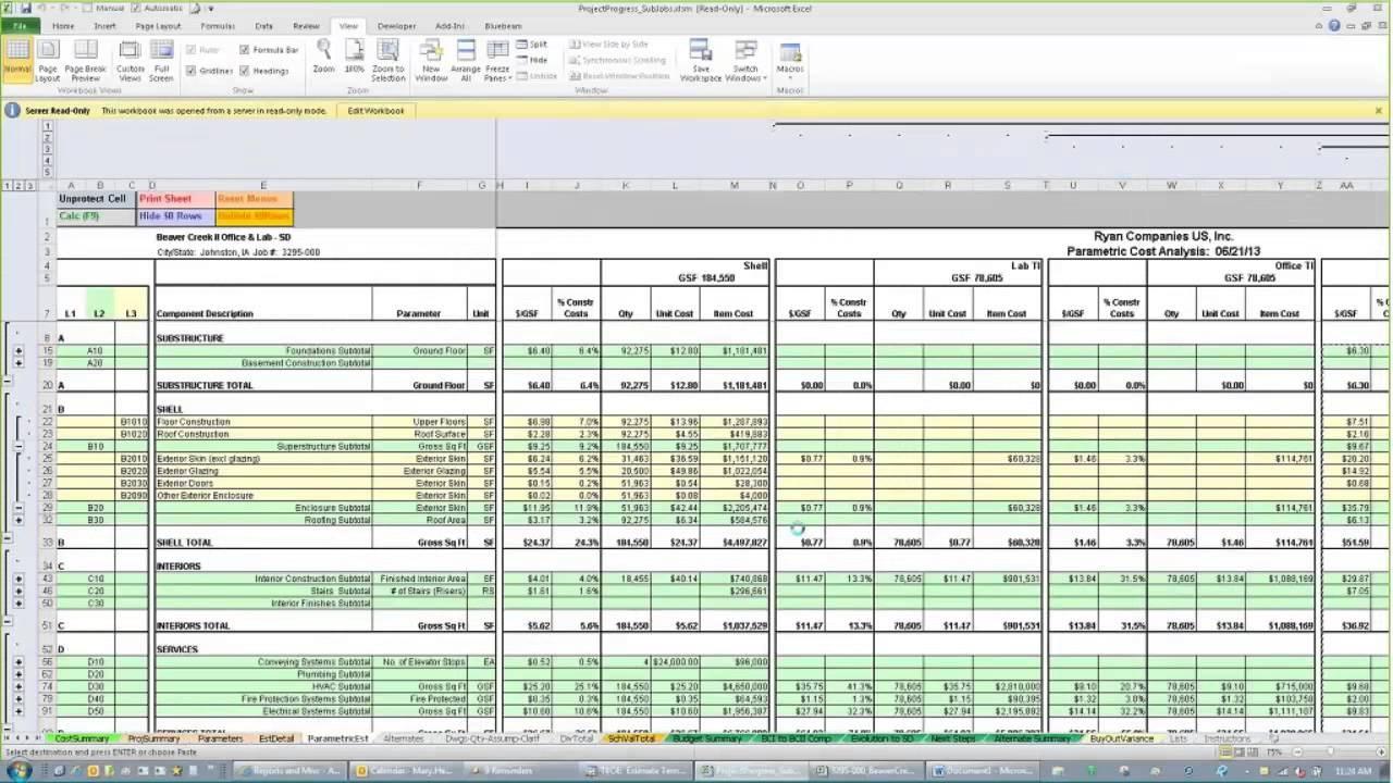 Residential Estimating Spreadsheet For Residential Construction Cost Estimate Spreadsheet