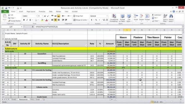 Resource Allocation Spreadsheet Template Regarding It Resource Planning Spreadsheet And Resource Planning Templates