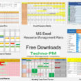 Resource Management Spreadsheet Template Intended For Resource Management Plan Templates Using Excel Template Downloads