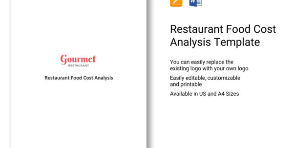 Restaurant Cost Analysis Spreadsheet Intended For Restaurant Food Cost Analysis Template In Word, Apple Pages