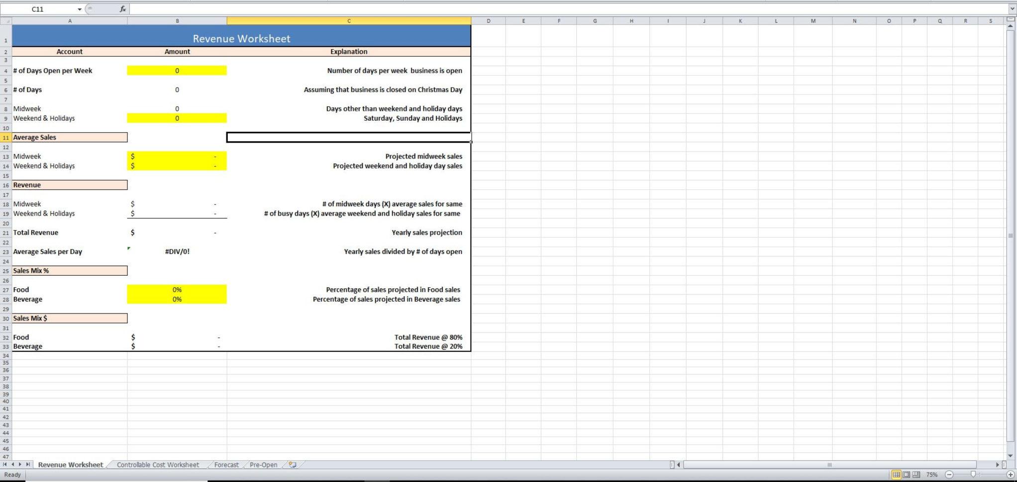 Restaurant Financial Projections Spreadsheet Throughout The 4 Financial Spreadsheets Your Restaurant Needs  Eloquens