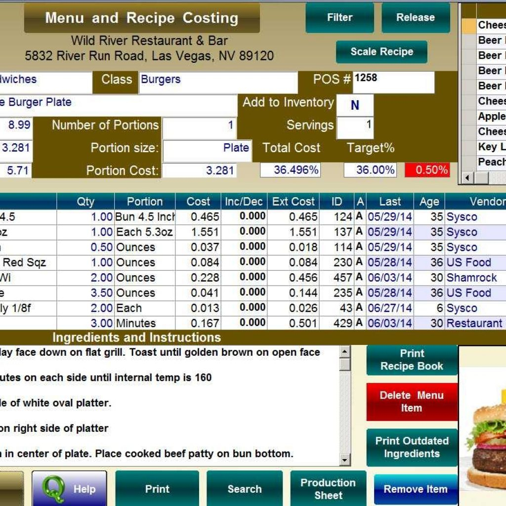 Restaurant Food Cost Spreadsheet With Food Cost Spreadsheet Free  Stalinsektionen Docs