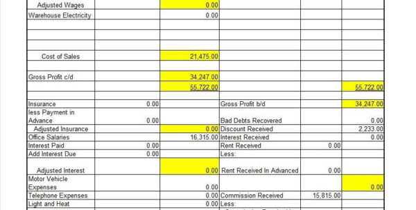 Restaurant Profit And Loss Spreadsheet Intended For 35  Profit And Loss Statement Templates  Forms