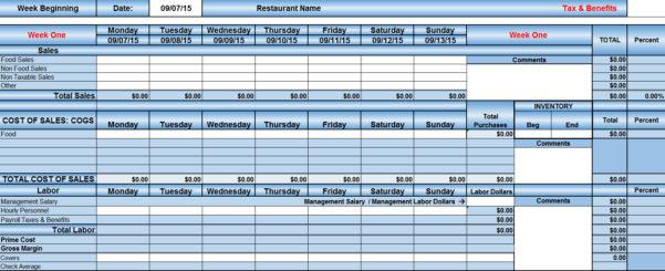Restaurant Tip Share Spreadsheet For Restaurant Excel Spreadsheets  Aljererlotgd