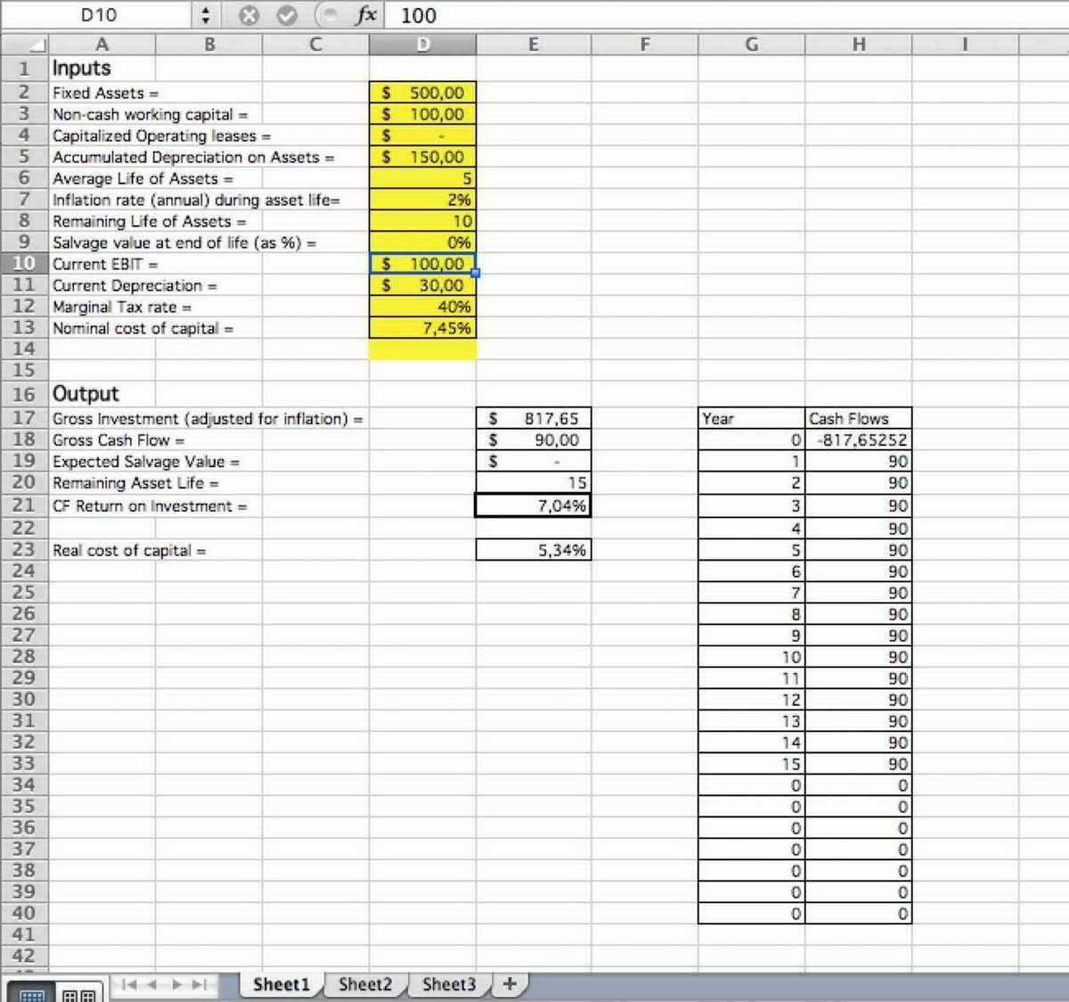 Restaurant Valuation Spreadsheet with regard to Business Valuation Spreadsheet With Discounted Cash Flow Template