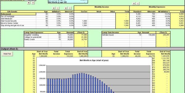 Retirement Excel Spreadsheet Intended For Retirement Calculator Spreadsheet Excel And Free Retirement