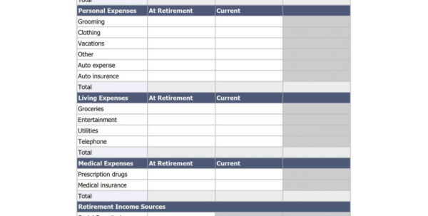 Retirement Income Calculator Spreadsheet With Retirement Calculator Spreadsheet Laobingkaisuo With Budget