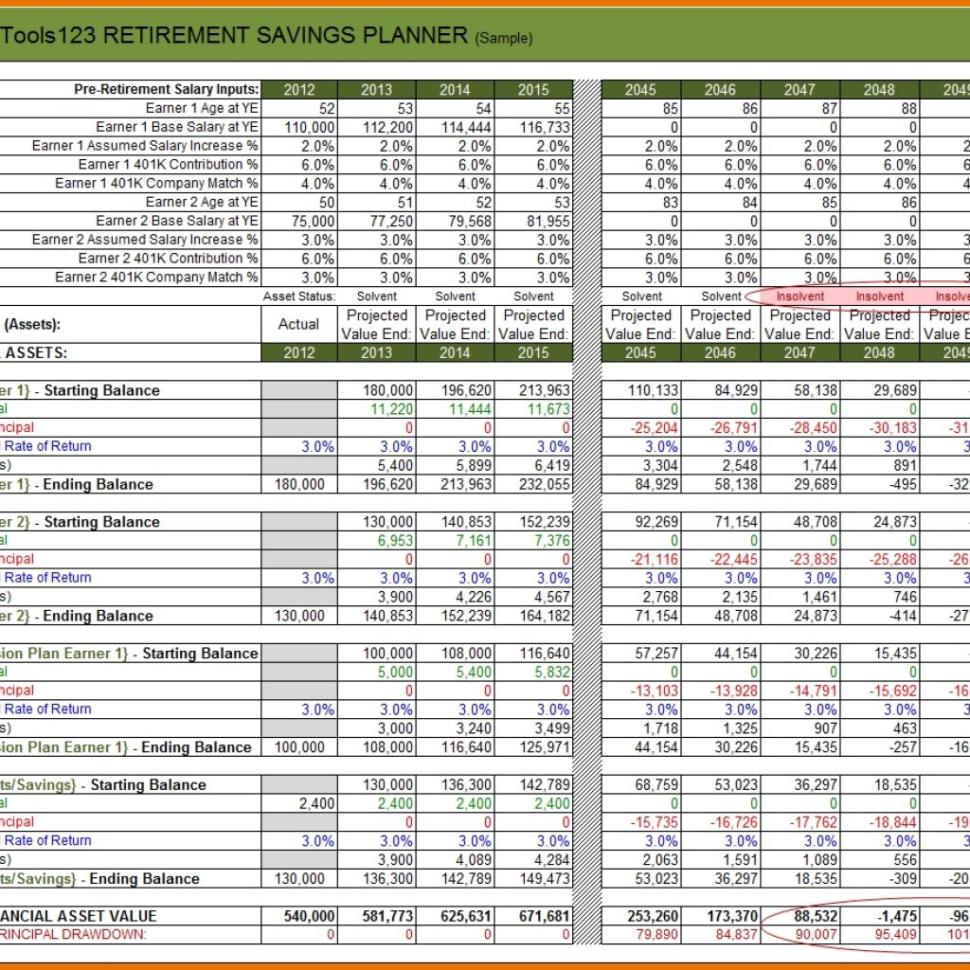 Retirement Planning Budget Spreadsheet Throughout Spreadsheet For Retirement Planning Template  Bardwellparkphysiotherapy