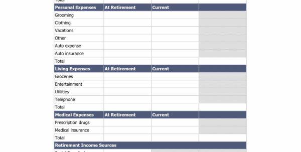 Retirement Spreadsheet For Ultimate Retirement Calculator Life Spreadsheet  Awal Mula
