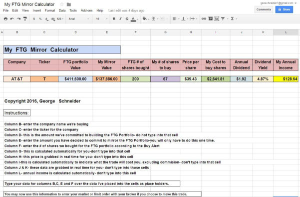 Retirement Staking Plan Spreadsheet Within How To Retire On $15 A Day  Att Inc. Nyse:t  Seeking Alpha