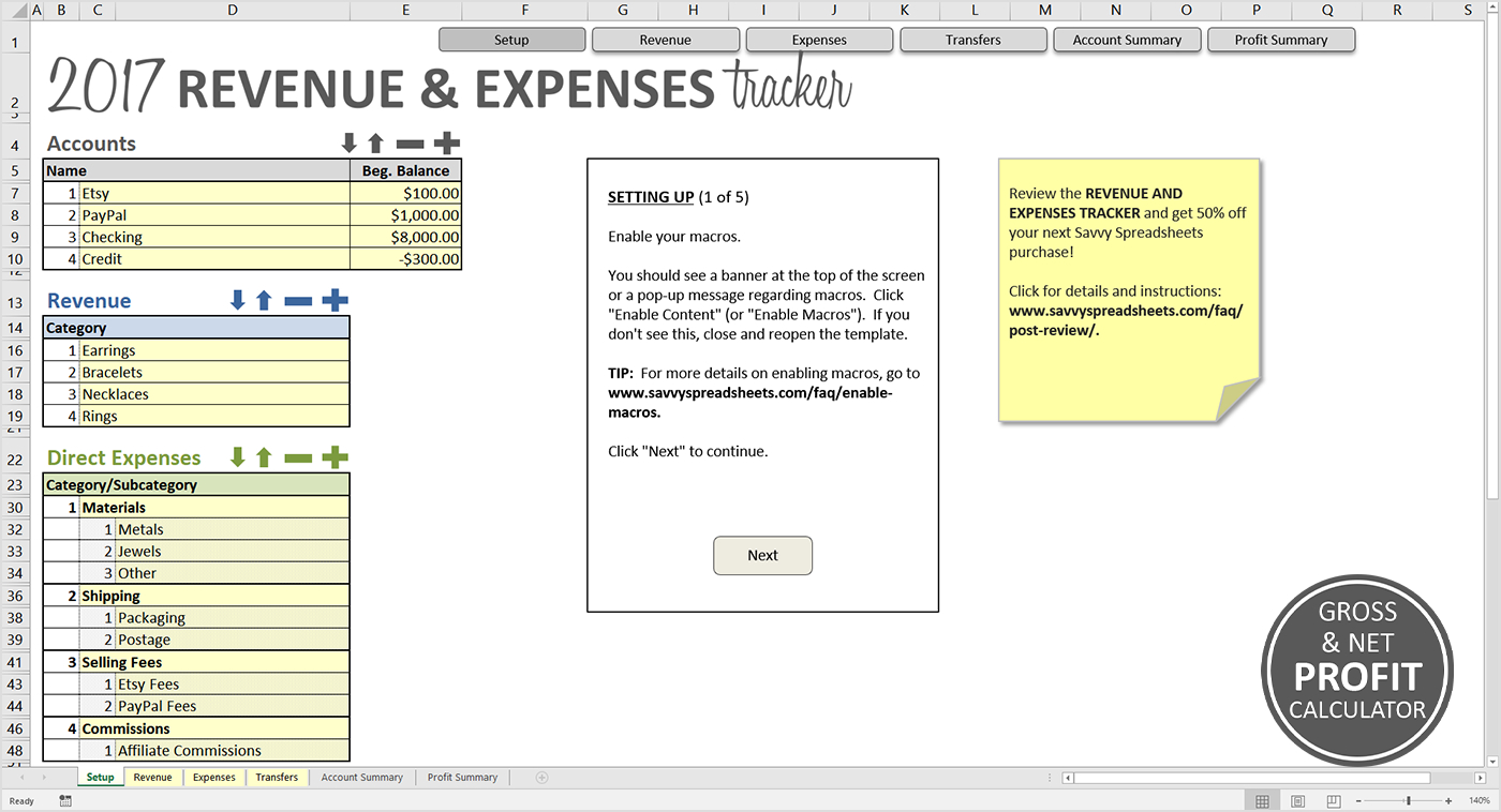 Revenue Tracking Spreadsheet With Regard To Revenue And Expenses Tracker  Savvy Spreadsheets