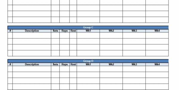 Reverse Pyramid Training Spreadsheet Regarding 40  Effective Workout Log  Calendar Templates  Template Lab