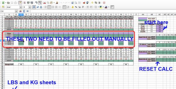 Reverse Pyramid Training Spreadsheet With Regard To Update #2] I Made A Greyskull Lp Gslp Spreadsheet Calculator V3