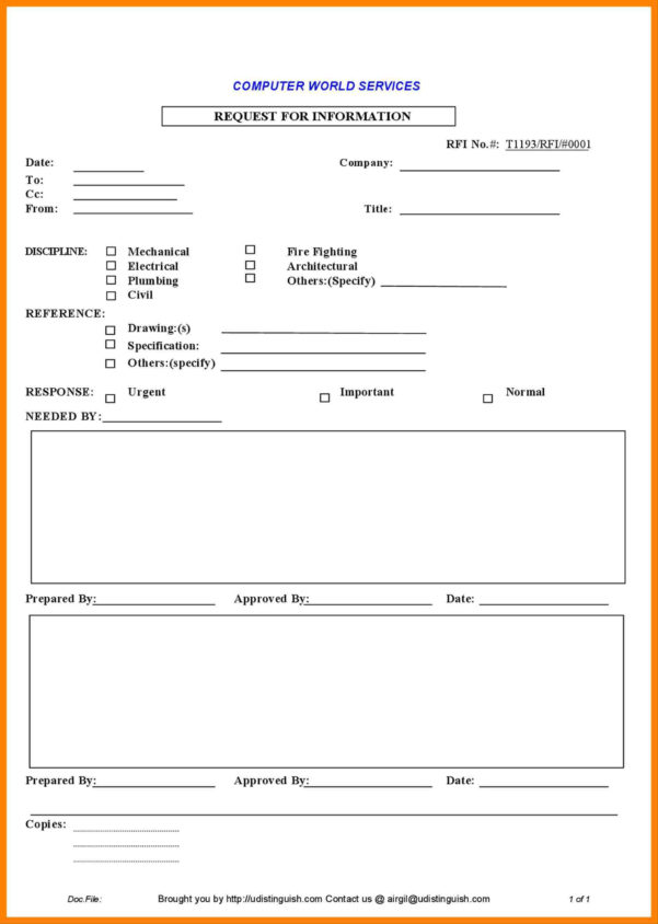 Rfi Spreadsheet Inside Construction Rfi Log Template Excel Fresh Famous Rfi Form Template