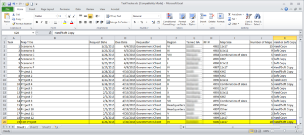 Rfi Spreadsheet With Task Tracking Using Python And Arcgis – Zekiah Technologies, Inc.