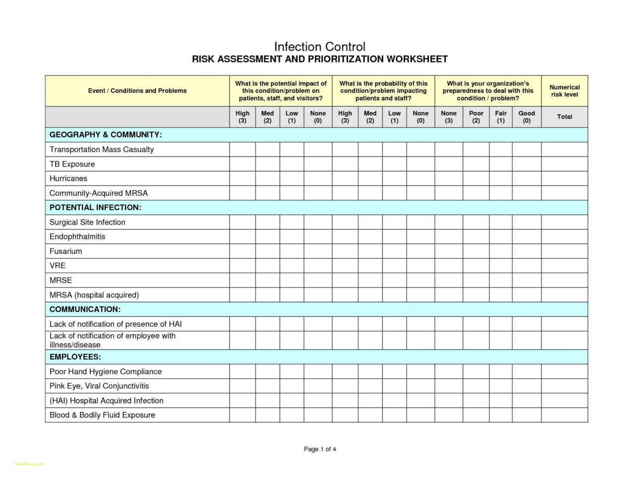 Risk Management Spreadsheet Template With Risk Management Spreadsheet Template  Awal Mula
