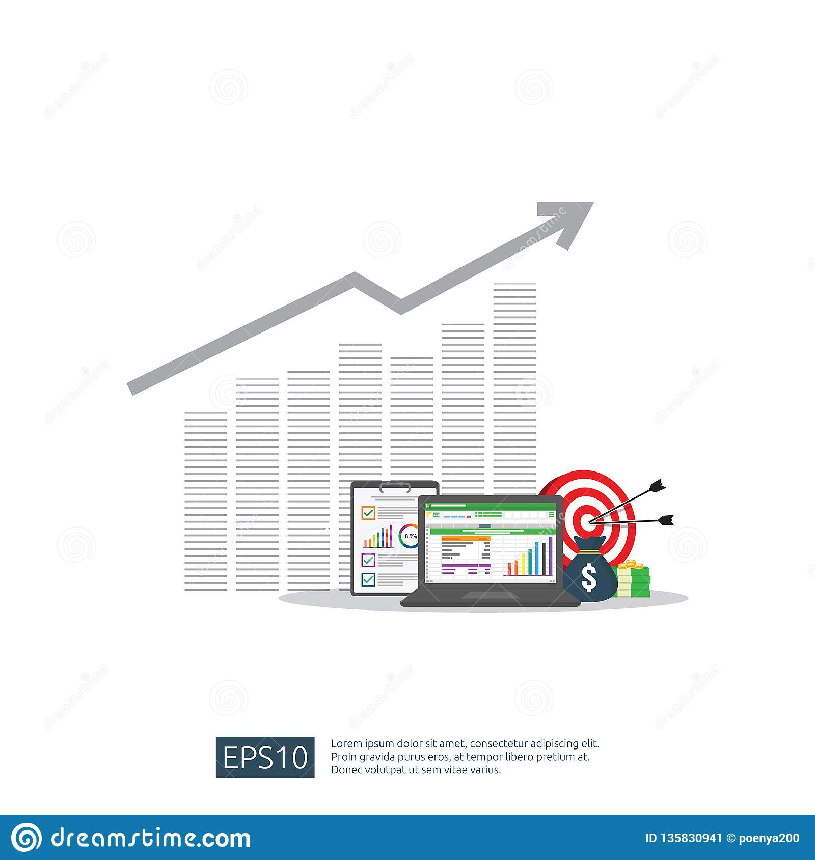 Roi Analysis Spreadsheet pertaining to Big Data Analysis On Screen. Seo Analytic Or Spreadsheet Business