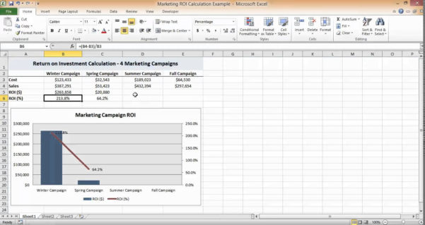 Roi Analysis Spreadsheet Throughout Spreadsheet Roi Calculation In Excel Youtube Maxresdefault Example