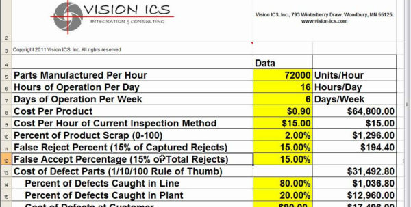 Roi Calculation Spreadsheet Intended For Images Of Roi Template Excel Capital Equipment Diygreat Com Example