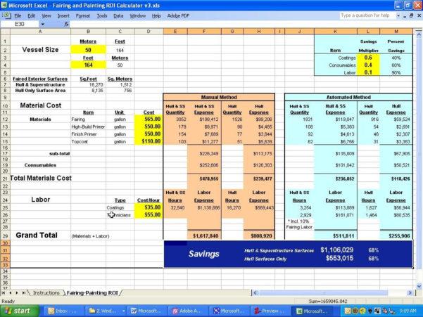 Roi Spreadsheet For Visions East Return On Investment Calculator Ro ~ Epaperzone