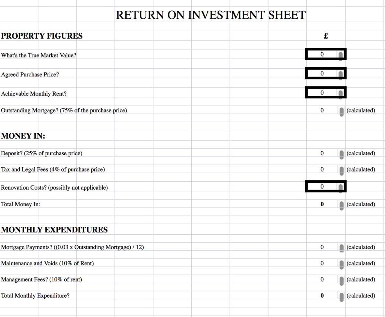 Roi Spreadsheet Inside Roi Spreadsheet  Dkohara  Dave's Wealthy Affiliate Tips