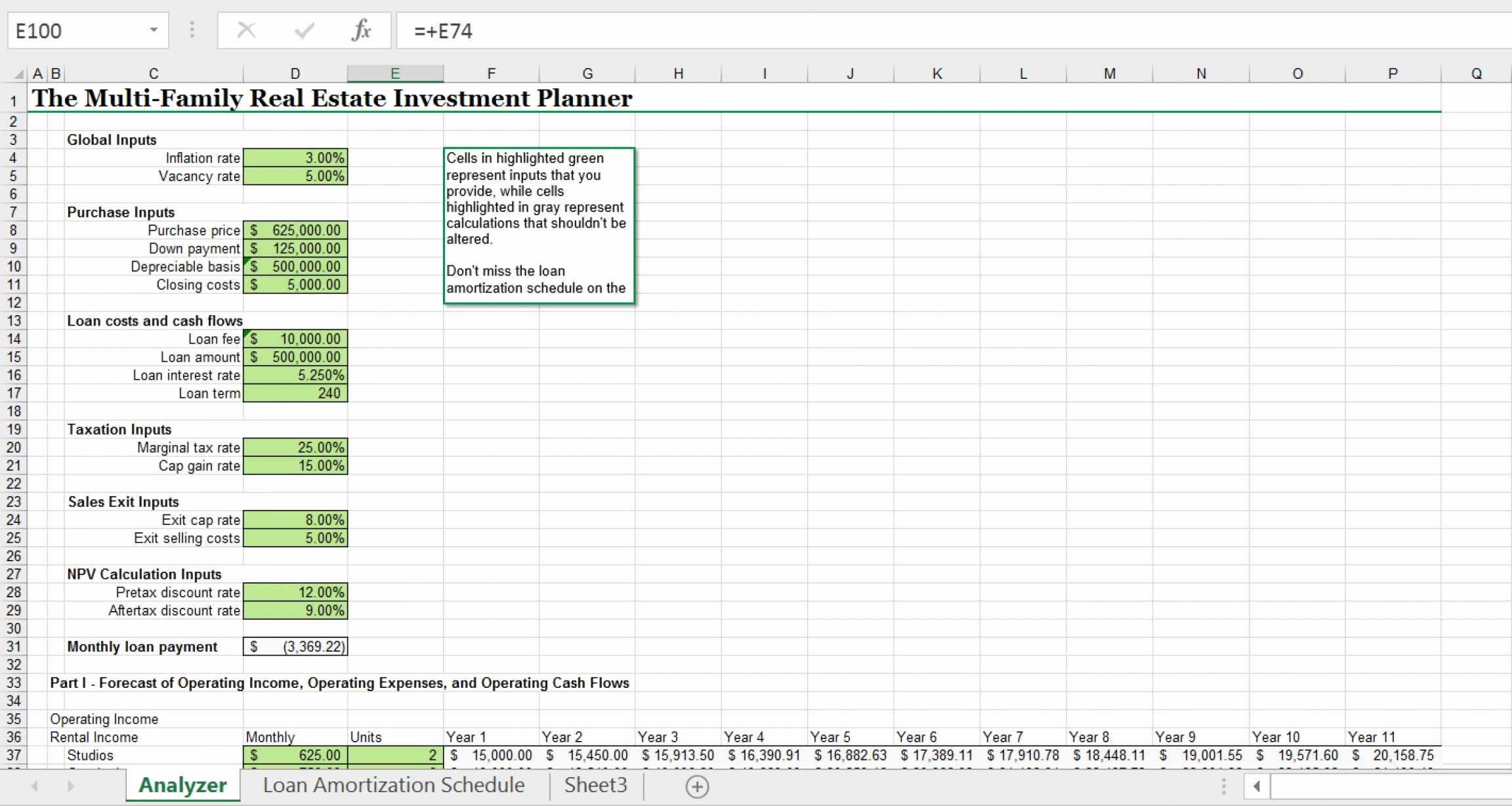 roi spreadsheet template real estate pertaining to. Black Bedroom Furniture Sets. Home Design Ideas