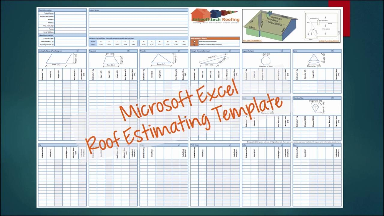 Roofing Estimate Spreadsheet With Estimating Spreadsheets Invoice Template Construction Excel Cost