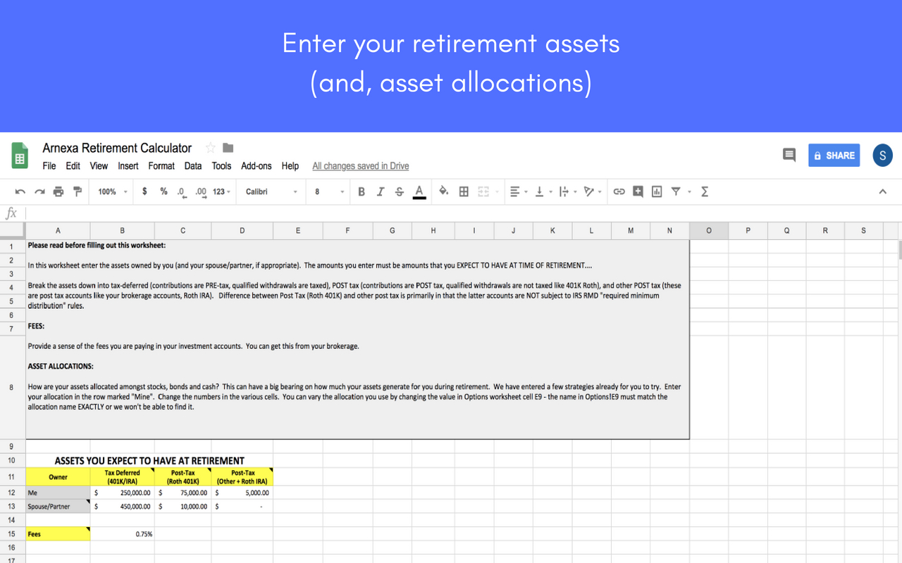 Roth Ira Excel Spreadsheet With Regard To Retirement Planning Worksheets Spreadsheet Template Free Worksheet