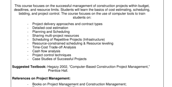 Rough Order Of Magnitude Spreadsheet For Pdf Computerbased Construction Project Management