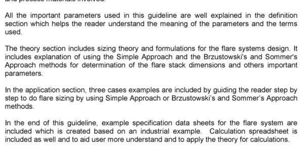 Rupture Disc Sizing Spreadsheet Pertaining To Flare Selection And Sizing Engineering Design Guideline  Pdf