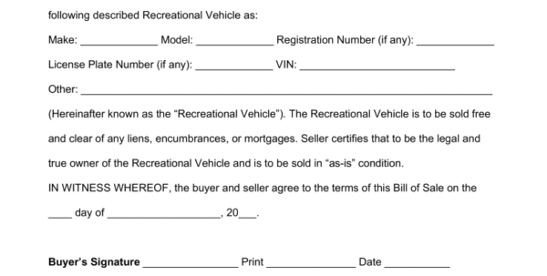 Rv Comparison Spreadsheet In Bill Of Sale Template For Boat Motor And Trailer Rv Maggi