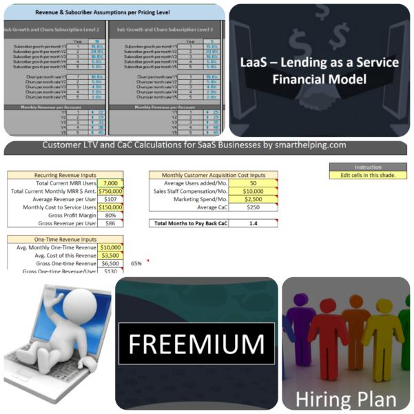 Saas Financial Model Spreadsheet Throughout Saas Financial Model Bundle  Efinancialmodels