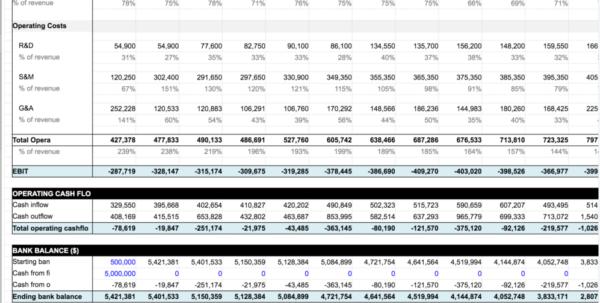 Saas Pricing Model Spreadsheet Inside Financial Projections Excel Spreadsheet  Tagua Spreadsheet Sample