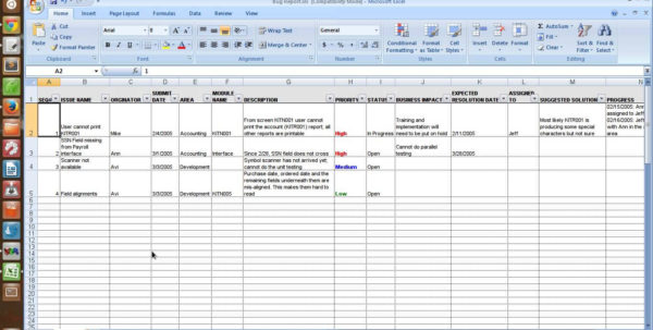Safety Incident Tracking Spreadsheet Within Defect Tracking Template Selo L Ink Co Example Of Incident