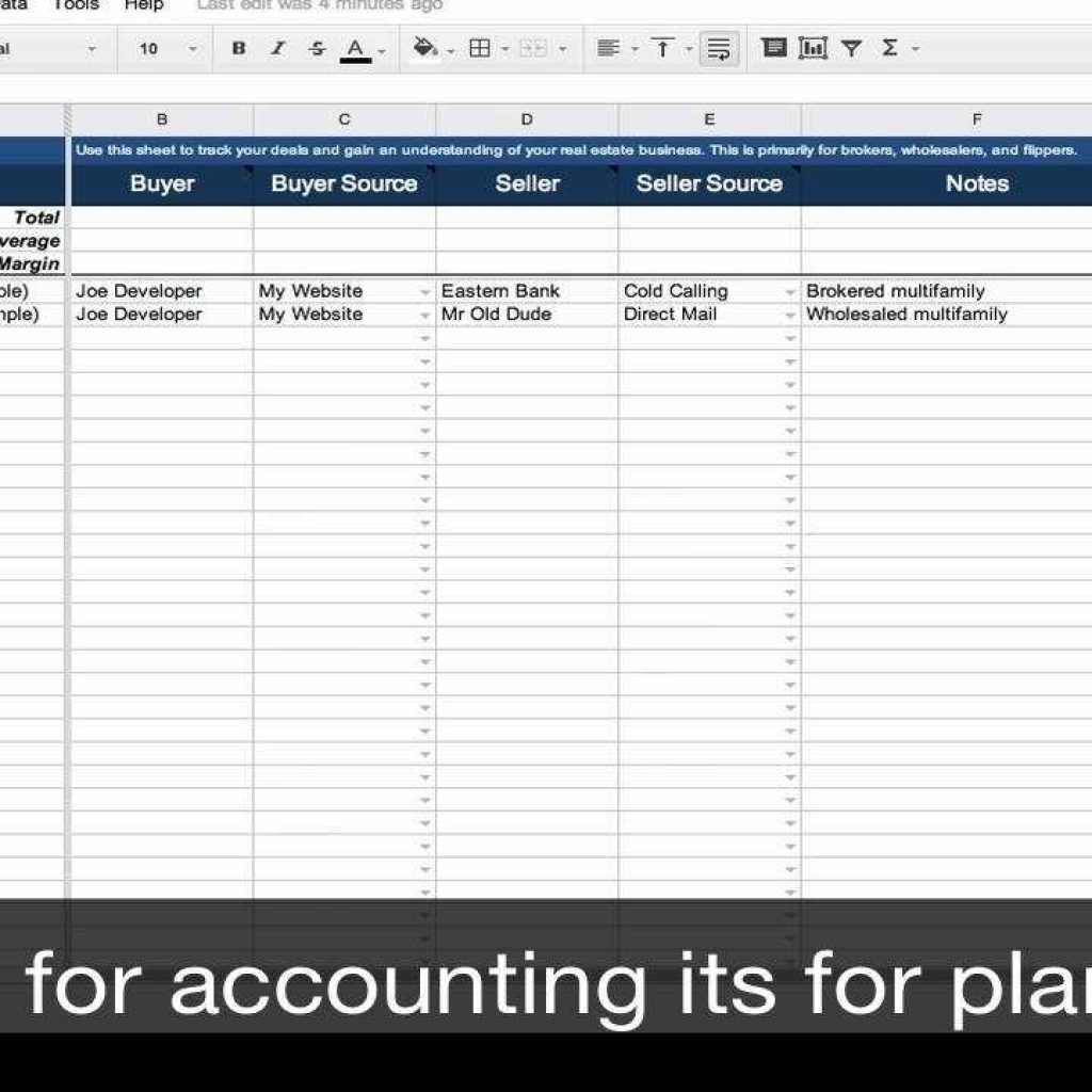 Sales Commission Spreadsheet Template For Real Estate Transaction Tracker – Spreadsheet Template – Youtube