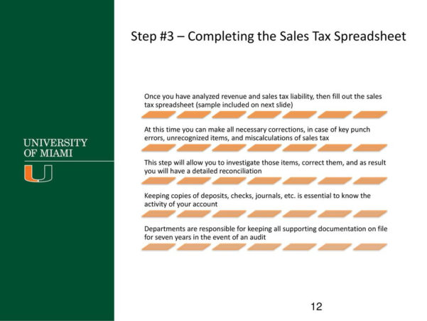 Sales Tax Spreadsheet Inside Guide To Reconcile Sales Tax Updated September Ppt Video Online Download