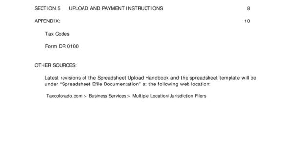 Sales Tax Spreadsheet Regarding Spreadsheet Upload Handbook Electronic Filing Of Colorado Sales Tax