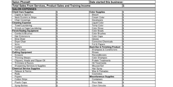 Salon Expenses Spreadsheet In Hair Stylist Income Spreadsheet Salon Budget Worksheet Photos High